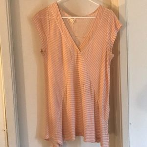 Pink and white striped Anthro top